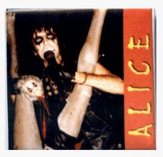 Alice Cooper   Legs (Singing)   1 1/2 Square Button / Pin