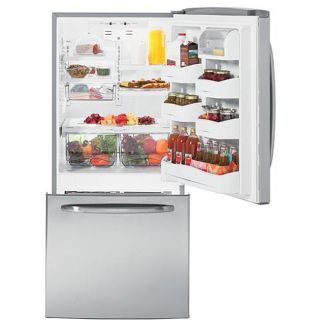 GE Energy Star 20.2 cubic feet Bottom Freezer Stainless Steel