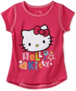 Hello Kitty Girls 2 6X Sugar Glitter On Flatlock Top