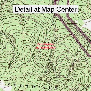 USGS Topographic Quadrangle Map   Port Angeles, Washington