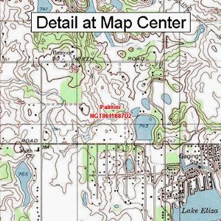 USGS Topographic Quadrangle Map   Palmer, Indiana (Folded