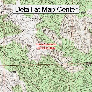 USGS Topographic Quadrangle Map   Tehachapi North