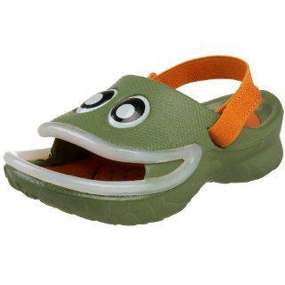 Kid Fish Lips Sandal,Army/Burnt Orange,11 M US Little Kid Shoes