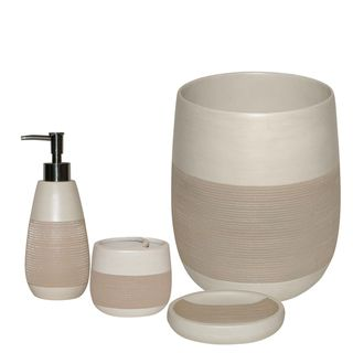 Congo Beige 4 piece Bath Accessory Set