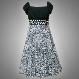 Size 7 RRE 56551F BLACK IVORY MOTHER OF PEARL WAISTLINE