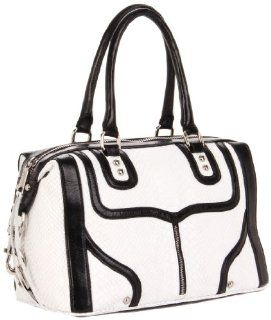 : Rebecca Minkoff Mab Bombe Snake Shoulder Bag,White,One Size: Shoes