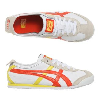 ONITSUKA TIGER Baskets Mexico 66 Femme Blanc, orange et jaune   Achat