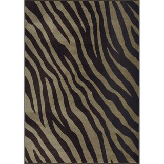 African Journey Woven Brown Rug (5 x 7)