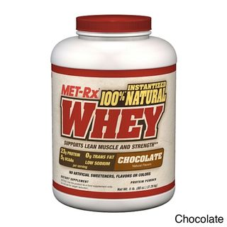 MET Rx 100% Natural Whey Protein Supplement (5 Pounds)