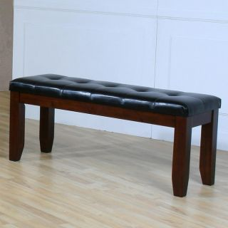 ETHAN HOME Camden Arts and Crafts 60 inch Faux Leather Tufted Bench