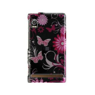 Motorola Droid A855 Crystal Butterfly Designed Case