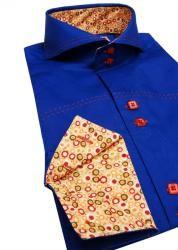 Domani Brio Uomo Mens Stitching Detail Dress Shirt