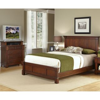 Home Styles Queen size Bed and Media Chest