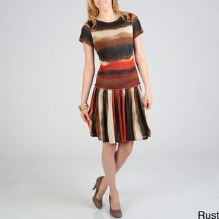 Sharagano Womens Tie Dye Dress
