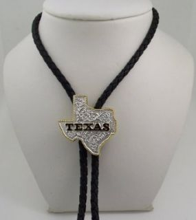 Sterling Silver/gold Plated Texas State Bolo Tie Clothing