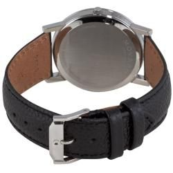 Movado Mens Museum Classic Black Leather Strap Watch