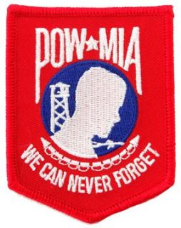 POW MIA Embroidered Patch Iron On Vietnam War Prisoner of