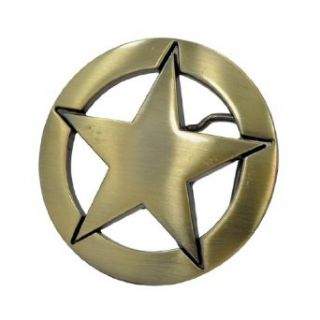 Buckle Rage BRONZE Metal Western Deputy Ranger Star Badge