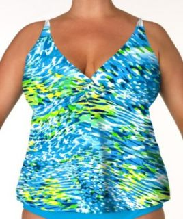 SUNSETS WOMAN Tranquility Twist Tankini 22W top only
