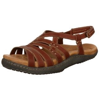 Kalso Earth Womens Imagine Rosso Leather Sandals FINAL SALE