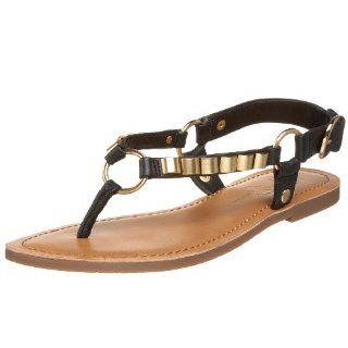Jessica Simpson Womens Jeko Flat,Black,6.5 M US Shoes