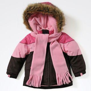 Rothschild Toddler Girls Embroidered Faux Fur Jacket