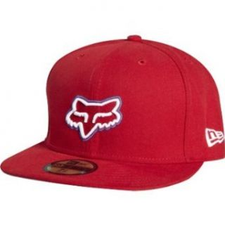 Fox Mens Kali Breed New Era Hat   Red X 7 5/8 Clothing