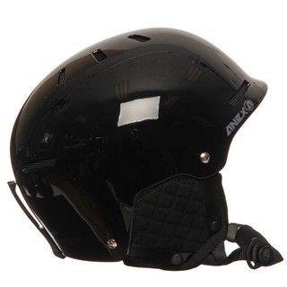 Anex Mens Maze Black Snow Helmet with Audio