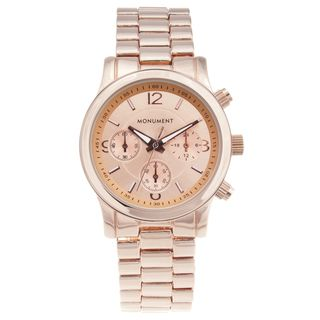 Monument Womens Rose Gold tone Sport Watch