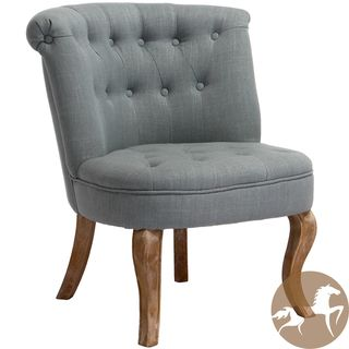 Christopher Knight Home Melissa Tufted Blue/ Grey Fabric Accent Chair