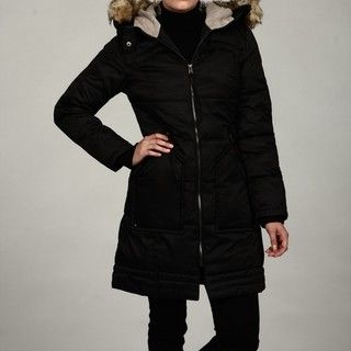 Buffalo Womens Black Faux fur Hooded Puffer Jacket FINAL SALE