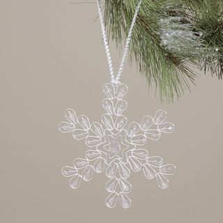 Glass Crystal and Brass Holiday Ornament (India)