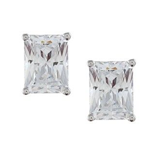 Cubic Zirconia Square Earrings