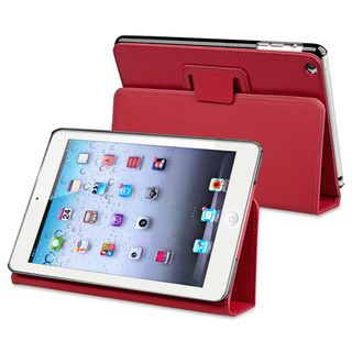 BasAcc Red Leather Case with Stand for Apple iPad Mini