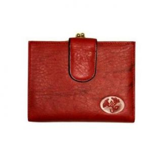 Red Buxton Leather Credit Card Midsize Wallet Clothing