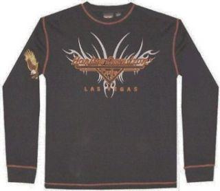 HARLEY DAVIDSON Las Vegas Cafe thermal biker shirt (L