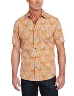 Cubavera Mens Short Sleeve Printed Cotton Shirt Clothing