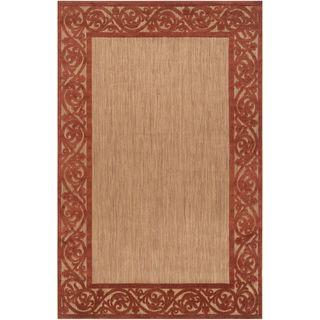 Woven Garden View Terra Cotta Olefin Area Rug (75 x 106)