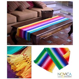 Cotton Rainbow Fantasy Table Runner (Guatemala)