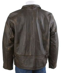 BKE 67 Mens Brown Leather Jacket