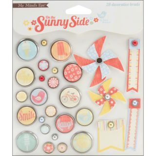 On The Sunny Side Decorative Brads (Pack of 28)