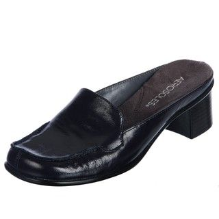 Aerosoles Womens Pep Talk Dark Blue Mid heel Dress Mules