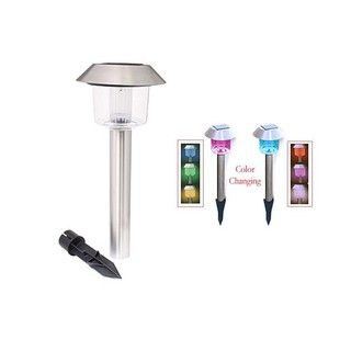 Stainless Steel Color Changing Solar Lights (Set of 12)