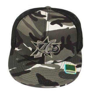 FLA BILL MESH PHILADELPHIA 76ERS BLACK CAMO 7 1/4 CAP