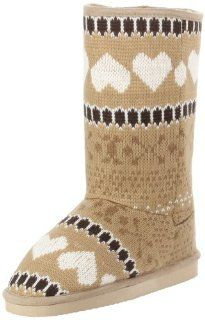 Miss Me Womens Cupcake 3D Flat Boot Shoes