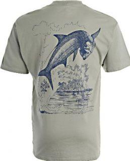 Tarpon Etching Stonewash Green T Shirt Large Clothing