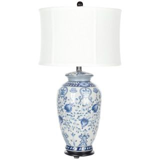 Indoor 1 light White and Blue Gardens Table Lamp
