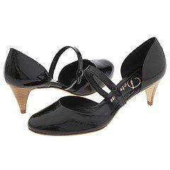 Delman Beverly P Black Patent Pumps/Heels