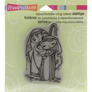Stampendous Christmas Cling Rubber Stamp Precious Nativity