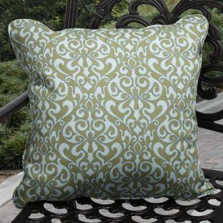 Isabella Outdoor Verti Blue, Green Pillows (Set of 2)
